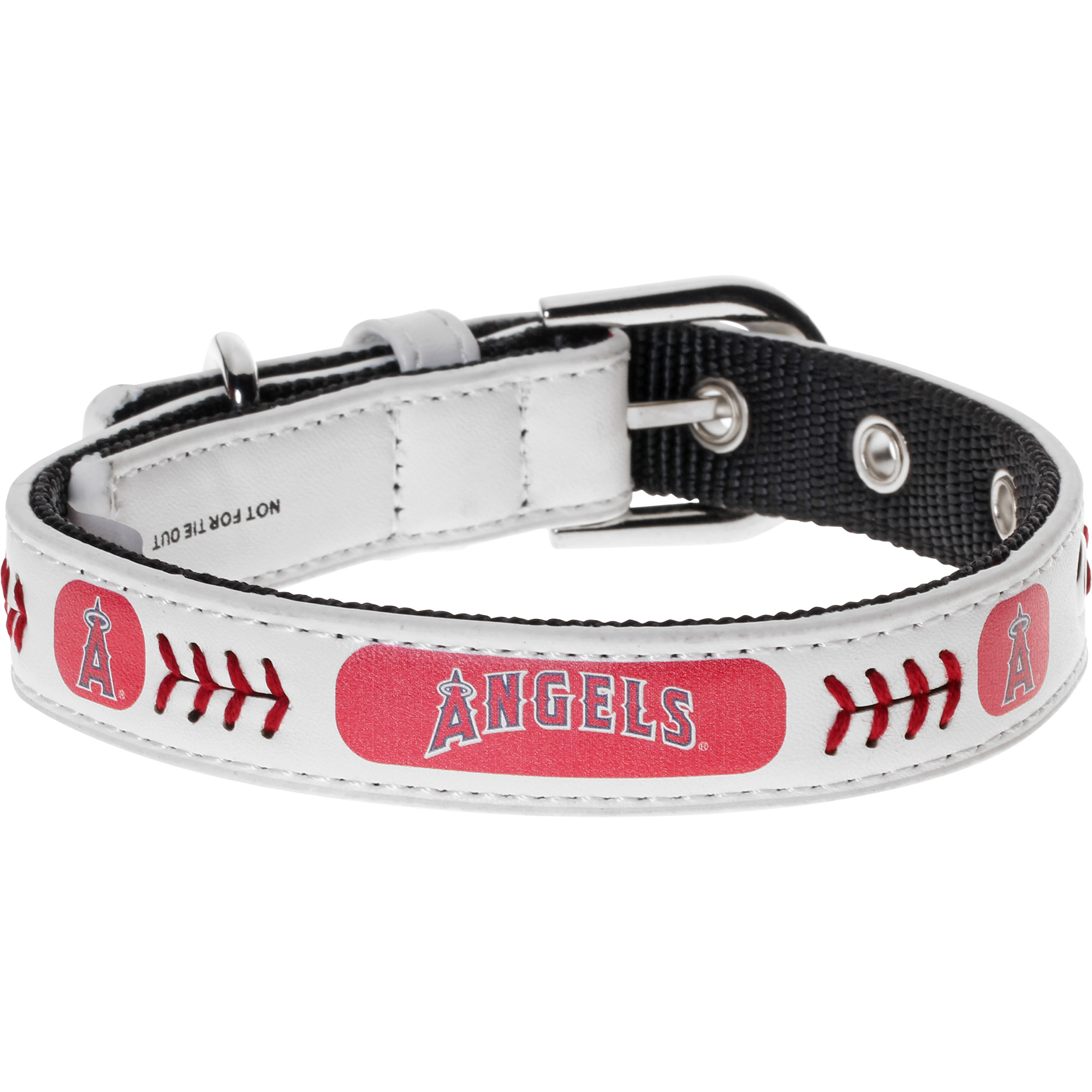 Los Angeles Angels Classic Leather Collar - White