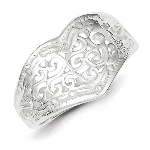 925 Sterling Silver Swirl Design Band Ring Size 7.00 S/love Fine Jewelry Gifts For Women For Her - image 2 de 2
