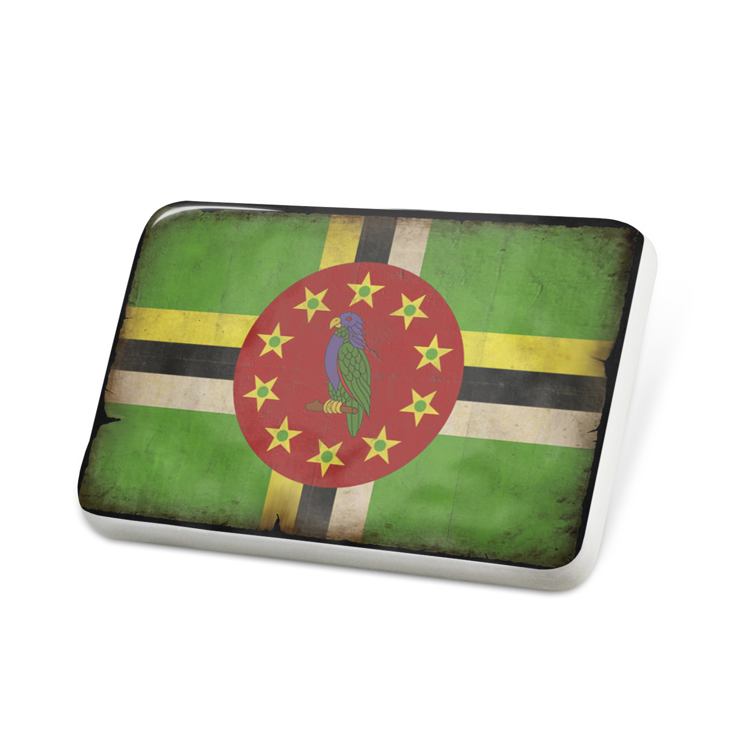 Porcelein Pin Dominica Flag with a vintage look Lapel Badge – NEONBLOND