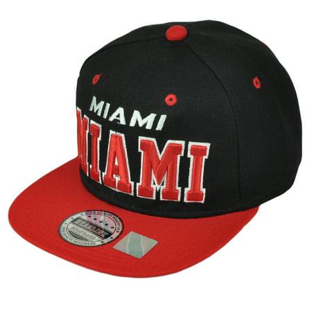 Miami MIA Florida 305 Black Snapback Hat Cap Magic City Flat Bill State (City Beach Store Locations)