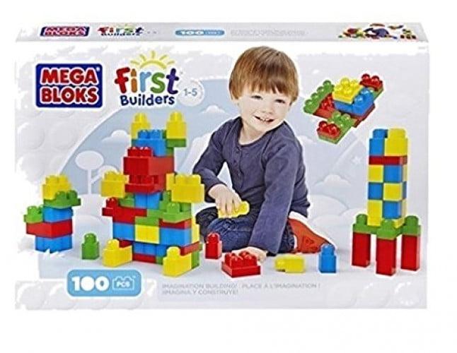 Mega Bloks First Builders First Builders 100-Count. Block Set by Mega Bloks