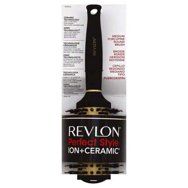 Revlon Perfect Style Ion+Ceramic Porcupine Round Brush, Medium