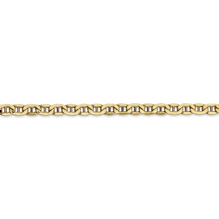 14K Yellow Gold 4.1mm Semi-Solid Anchor Chain 18 Inch - image 3 de 5