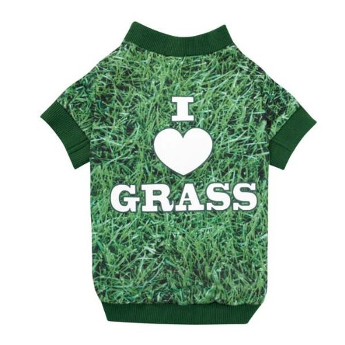 Casual Canine Photo Real Grass Tee, Small/Medium, Green