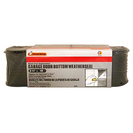 Frost King® RV9 Vinyl Garage Door Bottom Weather Seal, Black, 2-3/4