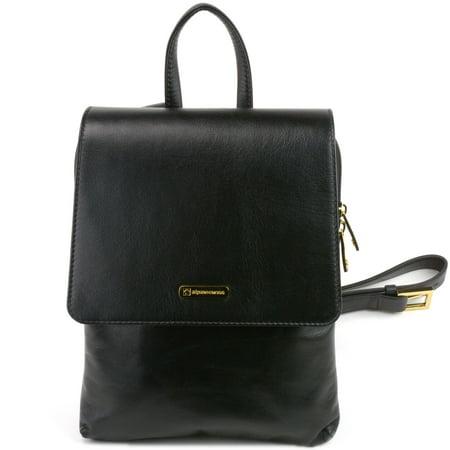 c40373f9b2 Alpine Swiss - Alpine Swiss Gila Womens Backpack Purse Organizer Handbag  Midsize Verona Leather - Walmart.com