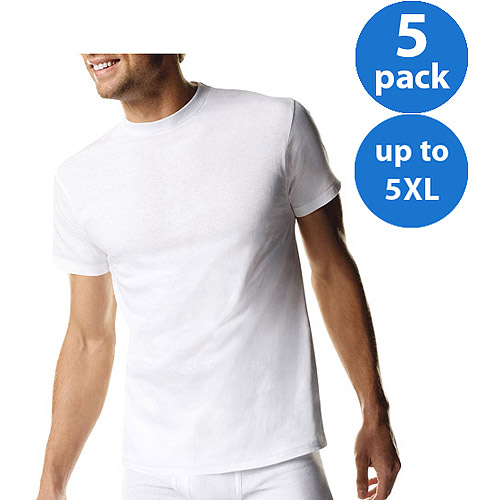 Hanes - Big Men's Crew Tee Shirts, 5-Pack
