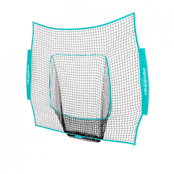 PowerNet Baseball and Softball 7x7 Color Nets (Net Only) Replacement - New Team Color - Sky Blue