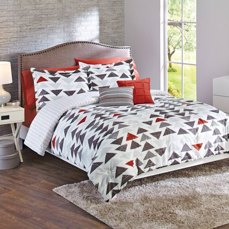 Better homes and gardens sketched triangle 5 piece bedding Better homes and gardens comforter set