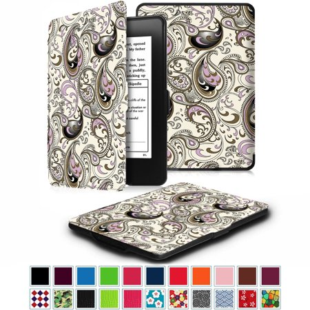 newest 7612b 09e97 All-New Amazon Kindle Paperwhite SmartShell Case - Fintie The Thinnest and  Lightest Leather Cover, Paisley Waves