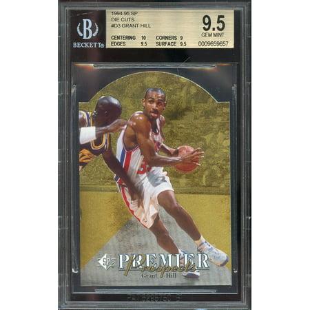1994-95 sp die cuts #d3 GRANT HILL rookie card (POP 11) BGS 9.5 (10 9 9.5 9.5) (2005 Sp Legendary Cuts Card)