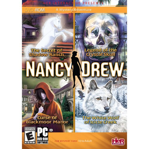 Nancy Drew 4 Pack-Secret of Shadow Ranch, Curse of Blackmoor Manor, White Wolf of Icicle Creek, Legend of the Crystal Skull - Wi