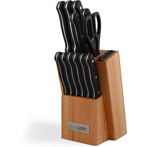 PureLife 12-Piece Knife Block Set
