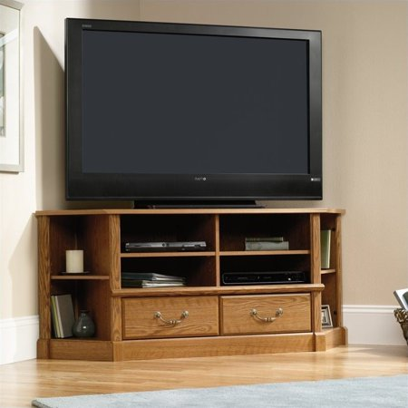 Kingfisher Lane Corner TV Stand in Carolina Oak (Carolina Pr)