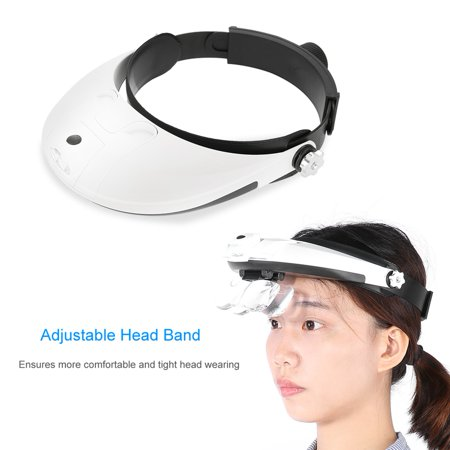 Ejoyous Headband LED Lamp Jeweler Watch Repair Magnifier Reading Magnifying Glass Loupe , Headband Lamp Magnifier, Jeweler Watch Repair