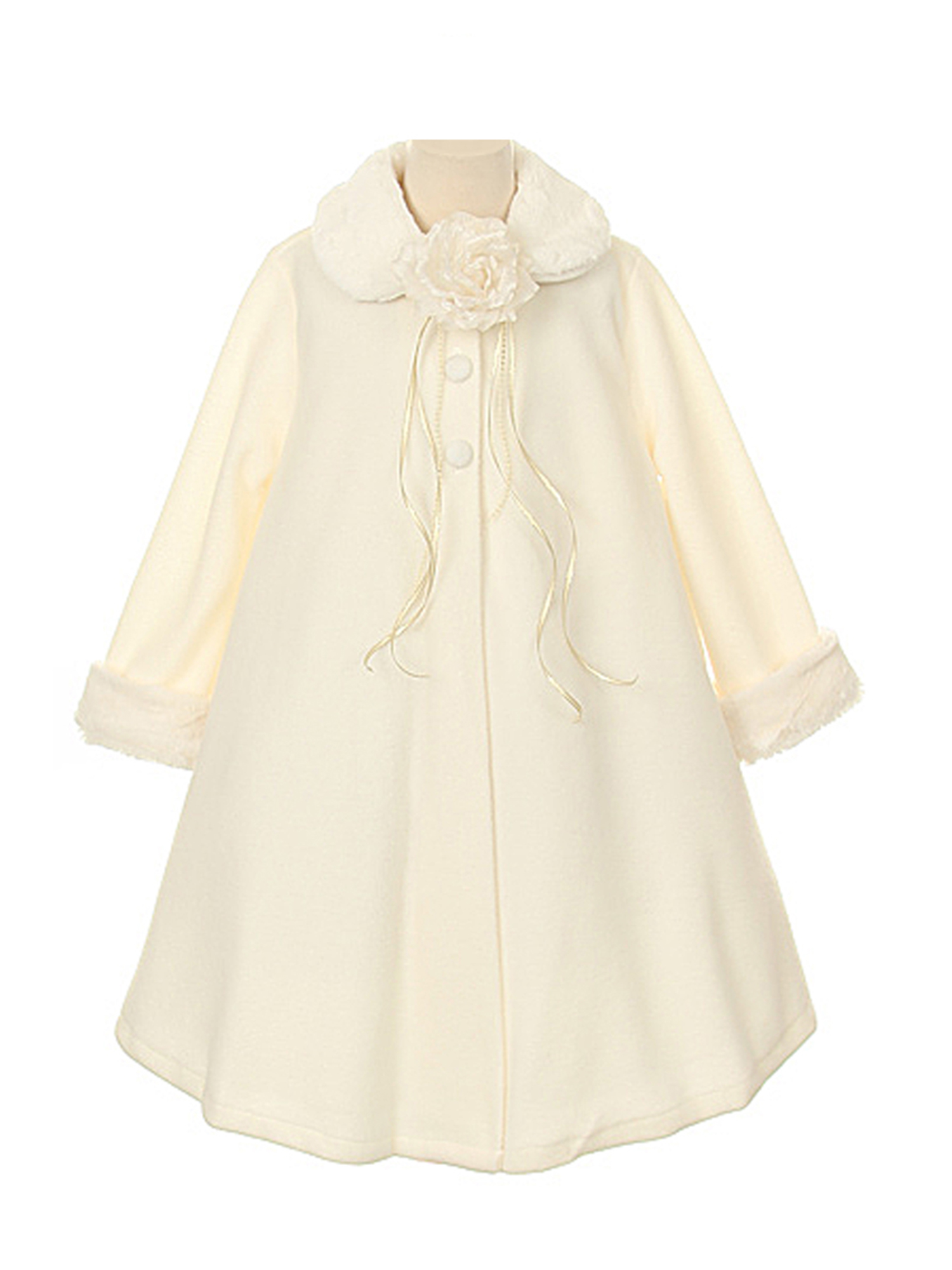 Dempsey Marie Cozy Fleece Long Sleeve Cape Jacket Coat