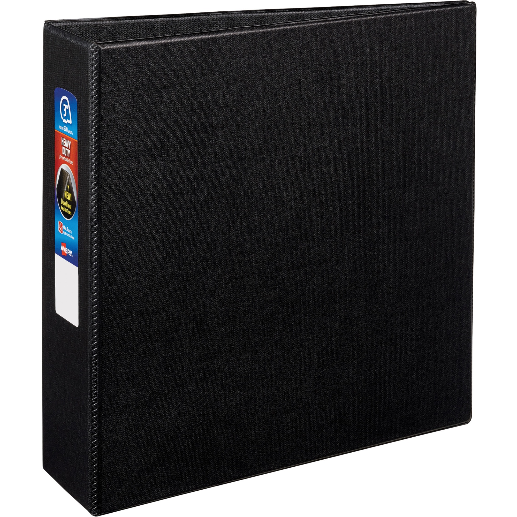 Avery Heavy-Duty Binder With EZD Ring, Black, Available In