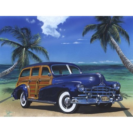 Printfinders 'Blue Lagoon' by Scott Westmoreland Graphic Art on Canvas