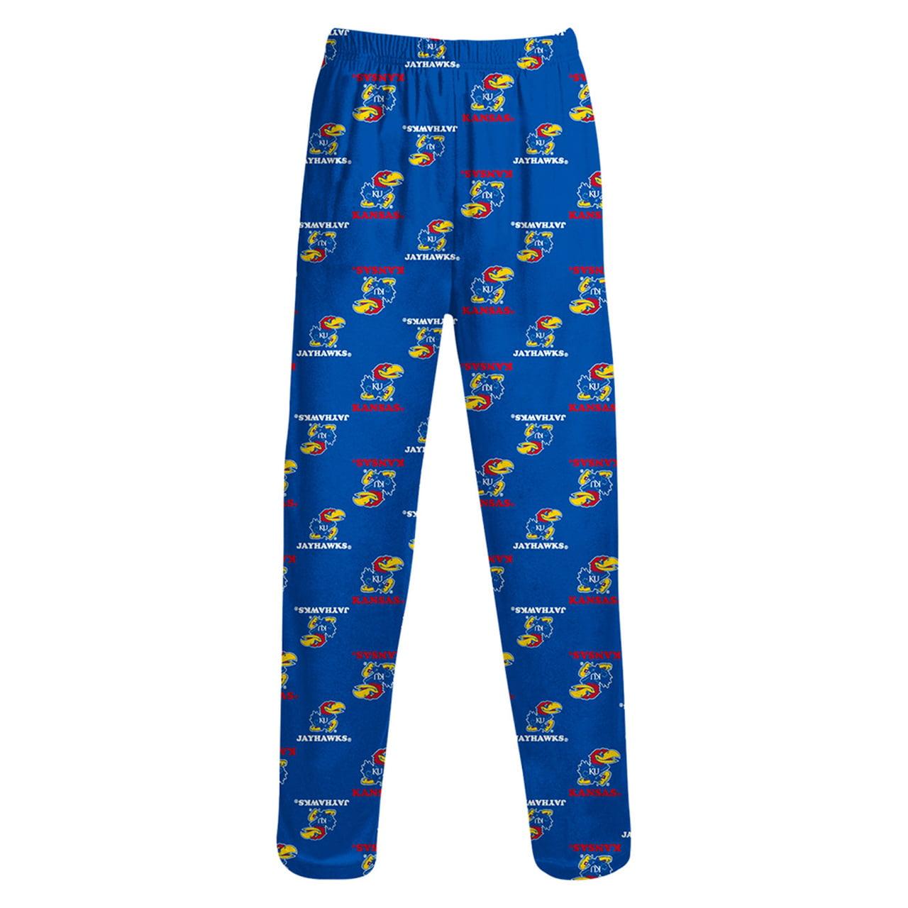Kansas Jayhawks Kids School Logo Pajama Pants - Royal