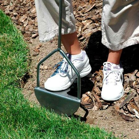 Yard Butler EDGE-180 37 Inch Steel Sawtooth Grass Lawn Manual Step Edger