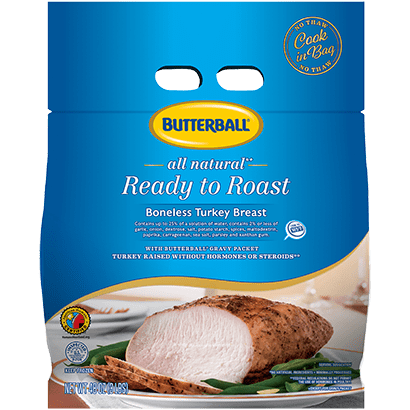 Butterball® Frozen Ready to Roast Boneless Skinless Turkey Breast, 3