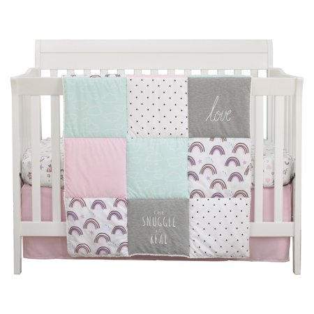 Unicorn Snuggles 4 Piece Nursery Crib Bedding Set by Carters