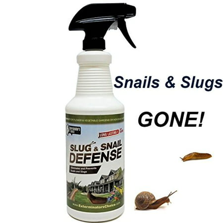 Slug and Snail Defense by Exterminator's Choice- Repellent Spray 32 oz- Works on all types of snails and slugs-perfect for any gardener's tool box | All Natural Garden Repellent Spray |