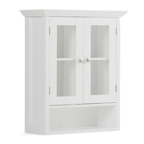 Simpli Home Acadian Double Door Wall Cabinet