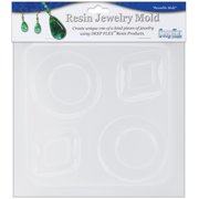 "Resin Jewelry Reusable Plastic Mold, Diamond and Round, 6.25"" x 7"""