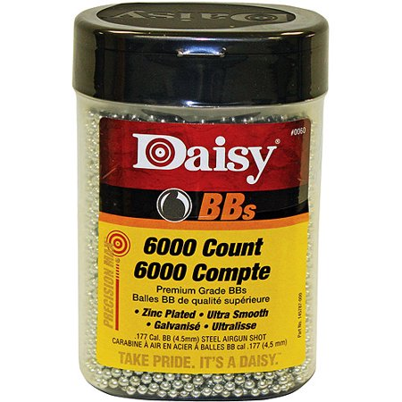 DAISY PRECISIONMAX BBS .177 BB ZINC-PLATED STEEL 6000CT