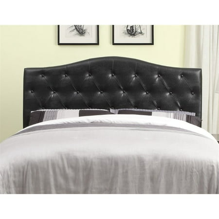Furniture of America Olivia Full Queen Faux Leather Headboard in Black