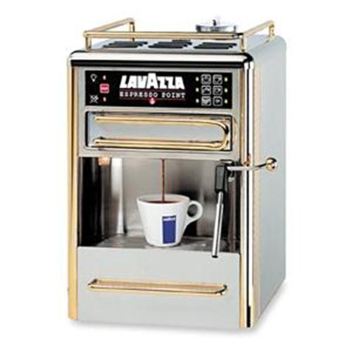 Luigi Lavazza One Cup Espresso Beverage System Chrome/Gold Stainless Steel 80114