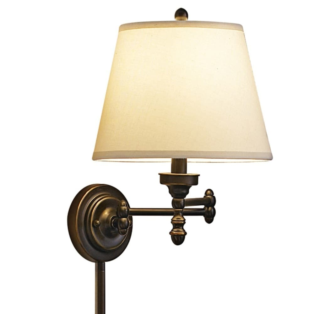 Click here to buy Aztec Lighting Traditional 1-light Pin-up, Plug-in Oil Rubbed Bronze Wall Sconce by Overstock.