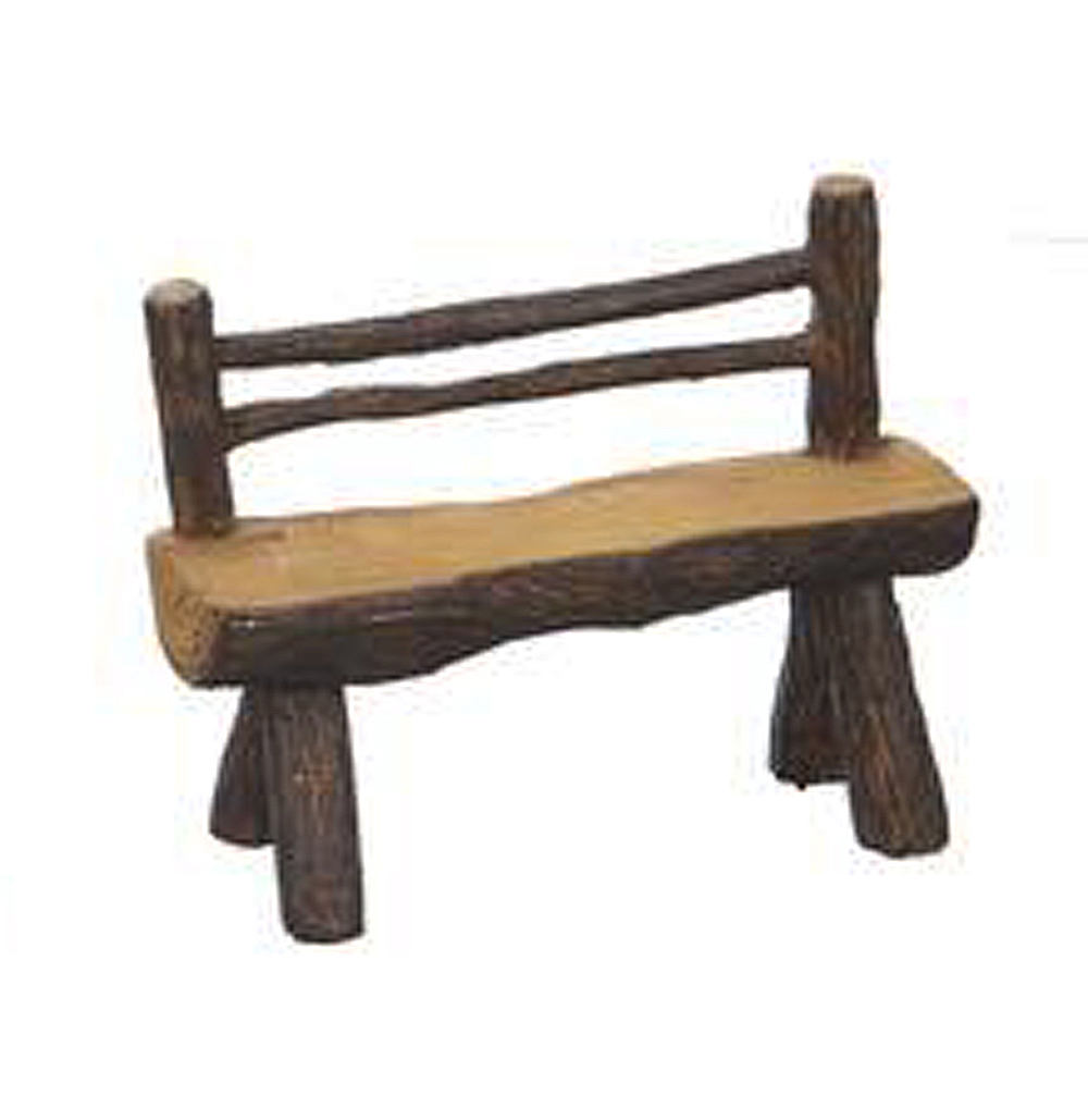 Rustic Log Bench Figurine - Great Outdoors Fantasy Collection by Ganz