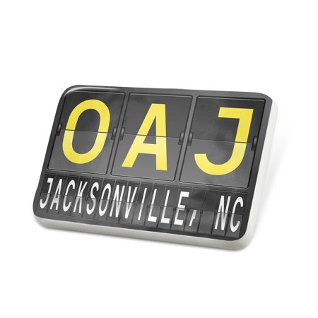 Porcelein Pin OAJ Airport Code for Jacksonville, NC Lapel Badge – NEONBLOND - Halloween Stores In Jacksonville Nc