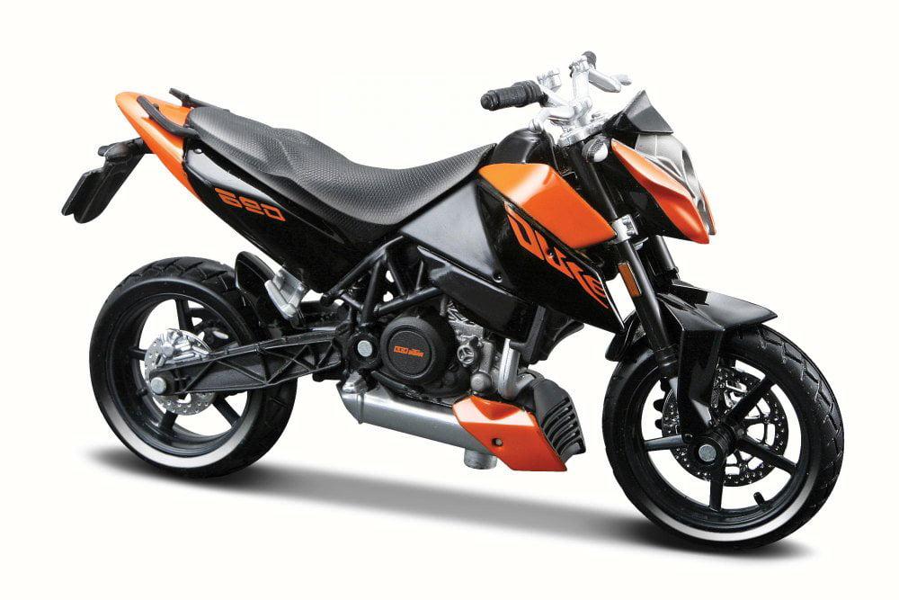 KTM 690 Duke Racing Motorcycle, Black w  Orange Maisto 31300 690 1 18 Scale Diecast Model... by KTM