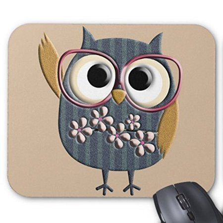 POPCreation Vintage Owl Mouse pads Gaming Mouse Pad 9.84x7.87 inches ()