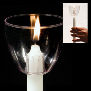 Clear Plastic Candle Wind Protector (Set of 6)