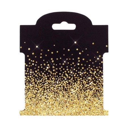 Gold Rhinestone Crusted Hair-Bow Display Cards Small -50 Cards ()