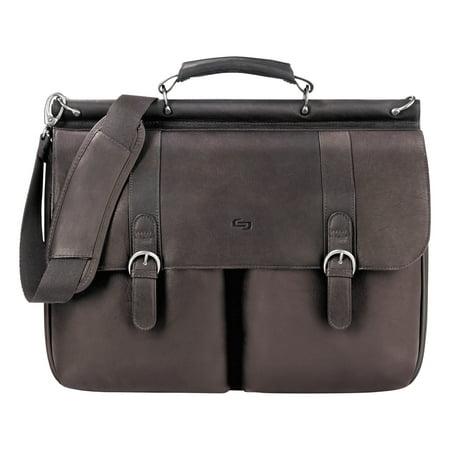Solo Executive Leather Briefcase, 16, 16 1/2 x 5 x 13, Espresso