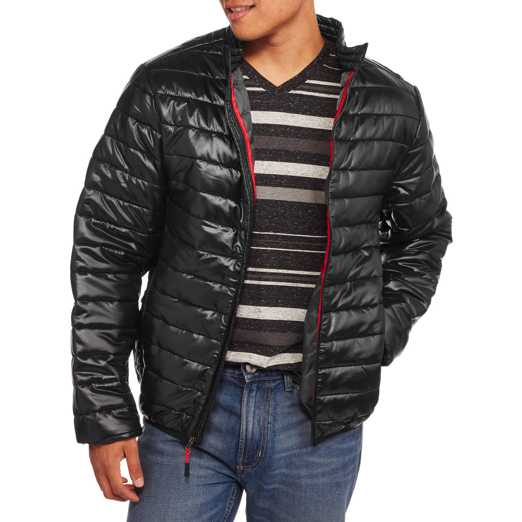 Men's Ultra Light Coated Nylon Puffer Jacket