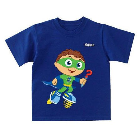 Personalized Super Why! Why Writer Toddler Boy T-Shirt (Personalized Gifts For Toddler Boy)