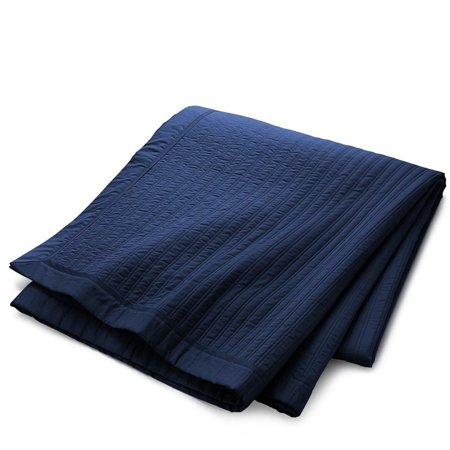 Ralph Lauren Home Reed Quilted King Coverlet Polo Navy ()