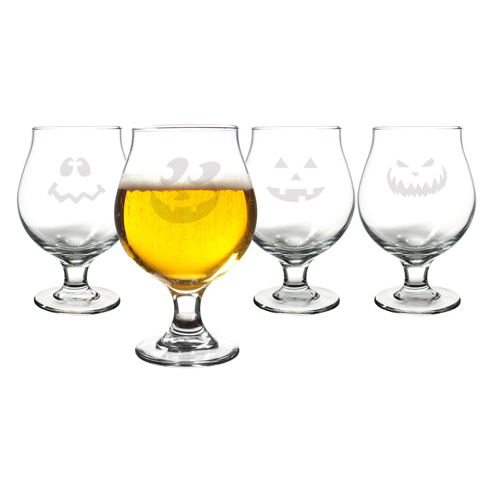 Cathys Concepts Jack-O-Lantern Belgian Beer Glasses Set of 4 by Cathys Concepts Inc