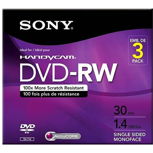 Sony Handycam Mini DVD-RW for DVD Camcorders, 3-Pack