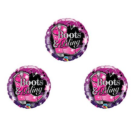 BOOTS & BLING Birthday Balloons Decoration Supplies Cowgirl Bachelorette horse - Cowgirl Birthday Supplies