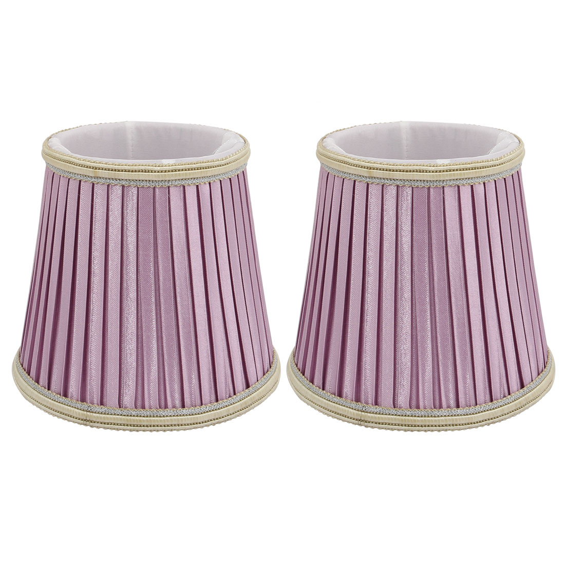 2pcs Light Shade Wall Shade Chandelier Clip-On Lampshade Light Purple by