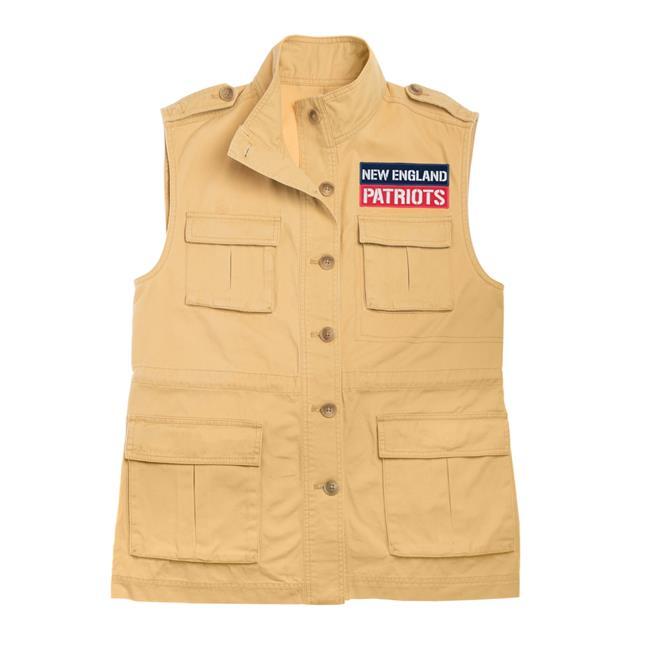 little earth 300668-pats-m nfl womens military vest, new england patriots - medium