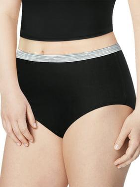 Just My Size Women's Assorted Cotton Brief Underwear, 6-Pack
