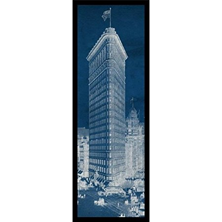 Framed flat iron 1909 blueprint panel 36x12 art print poster framed flat iron 1909 blueprint panel 36x12 art print poster architectural new york city vintage manhattan malvernweather Gallery